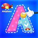 ABCトレースブック-フォニックゲームを学ぶ子供たち