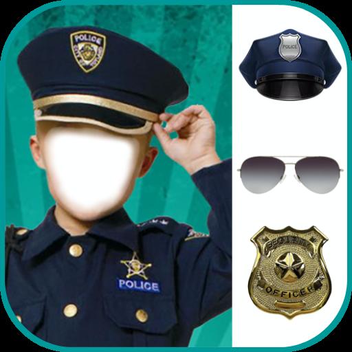 Police Photo Editor: Men & Women Police Suit Dress Icon