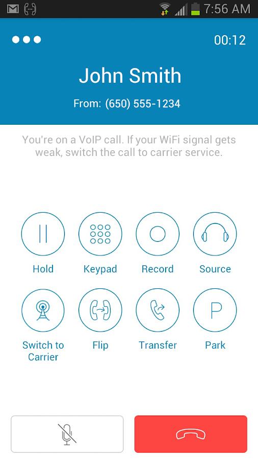 RingCentral Office@Hand- screenshot