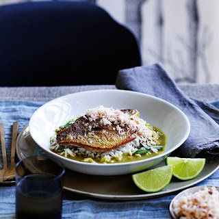 Fish Curry With Coconut Sambal.