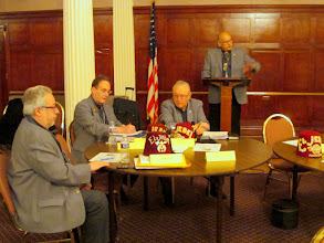 Photo: Larry opens the meeting