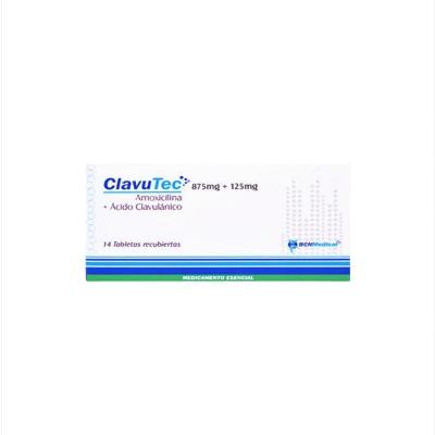 Amoxicilina + Acido Clavulanico Clavutec 875/125mg