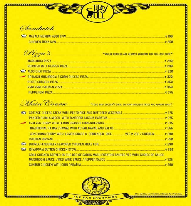 Tipsy Bull menu 5