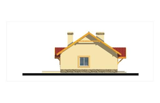 Gienia energo+ wersja C bez garażu strop Teriva - Elewacja lewa