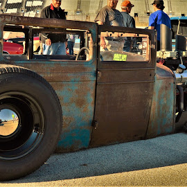 Down to the Frame by Benito Flores Jr - Transportation Automobiles ( cars, patina, car show ft. worth, goodguys )