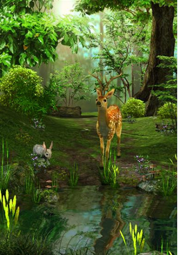 3D Nature Deer Live Wallpaper 1.2 screenshots 1