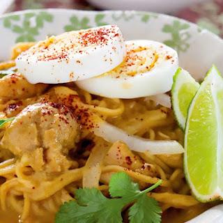 Chicken Coconut Noodle Soup Recipe.