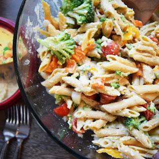 Mediterranean Hummus Pasta Salad.