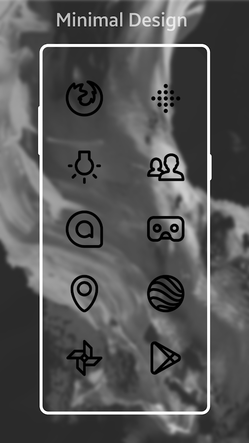 Squircle Lines Black UI - Icon Pack- screenshot