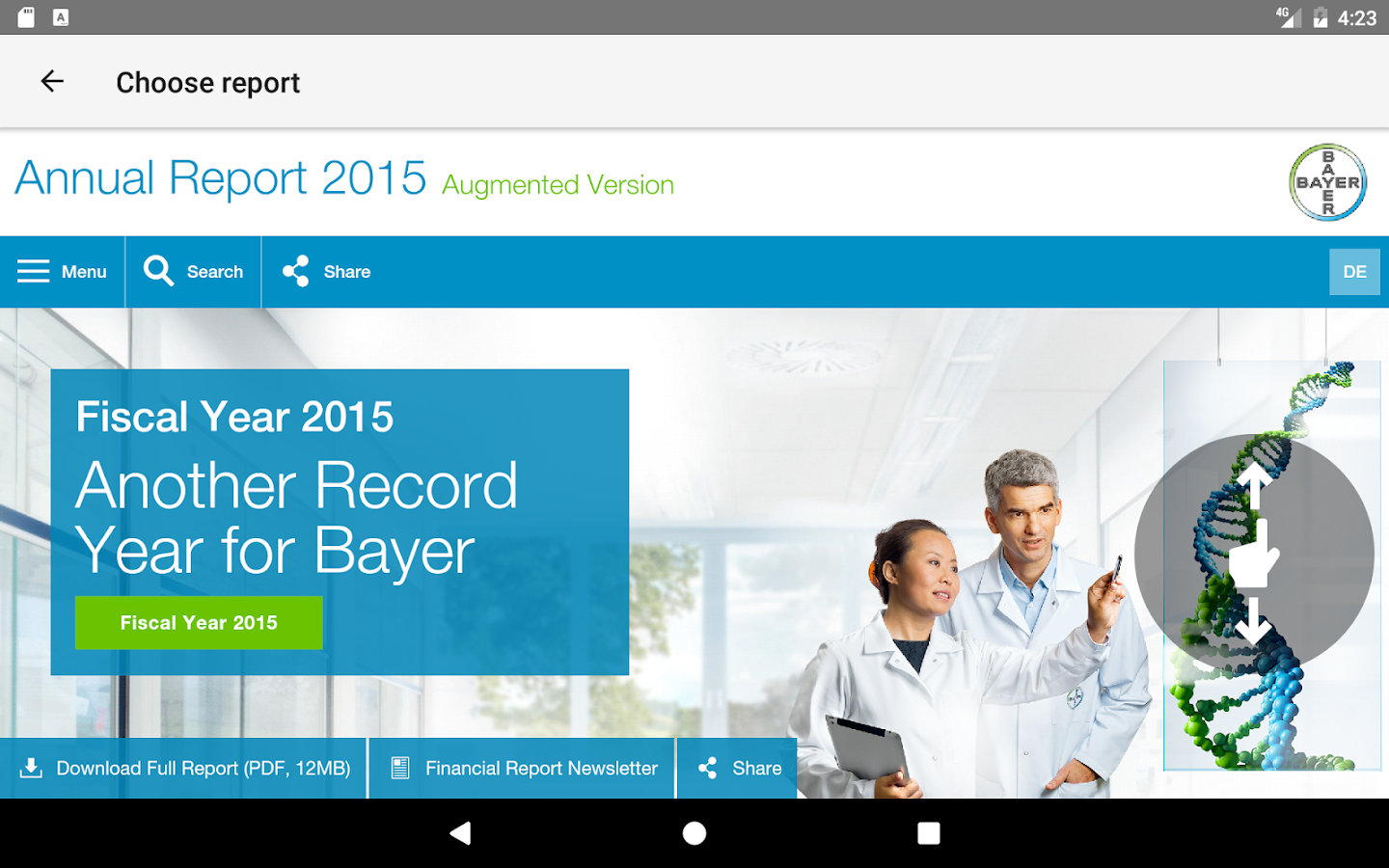 Bayer Integrated Reports – Screenshot