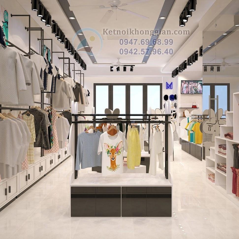 thiết kế shop thời trang trẻ em chất và sang
