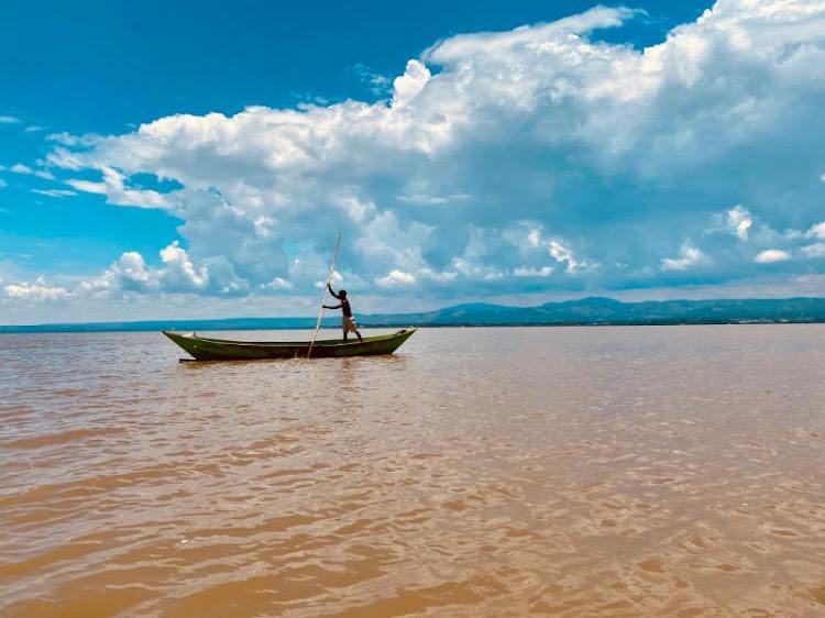 A fisherman at Lake Victoria