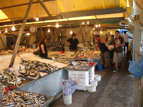 Photo: Fish market under walls of new castle Corfu