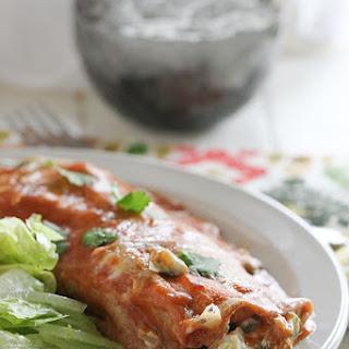 Artichoke and Spinach Enchiladas.