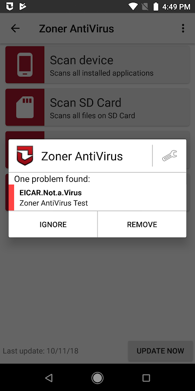Zoner AntiVirus screenshots