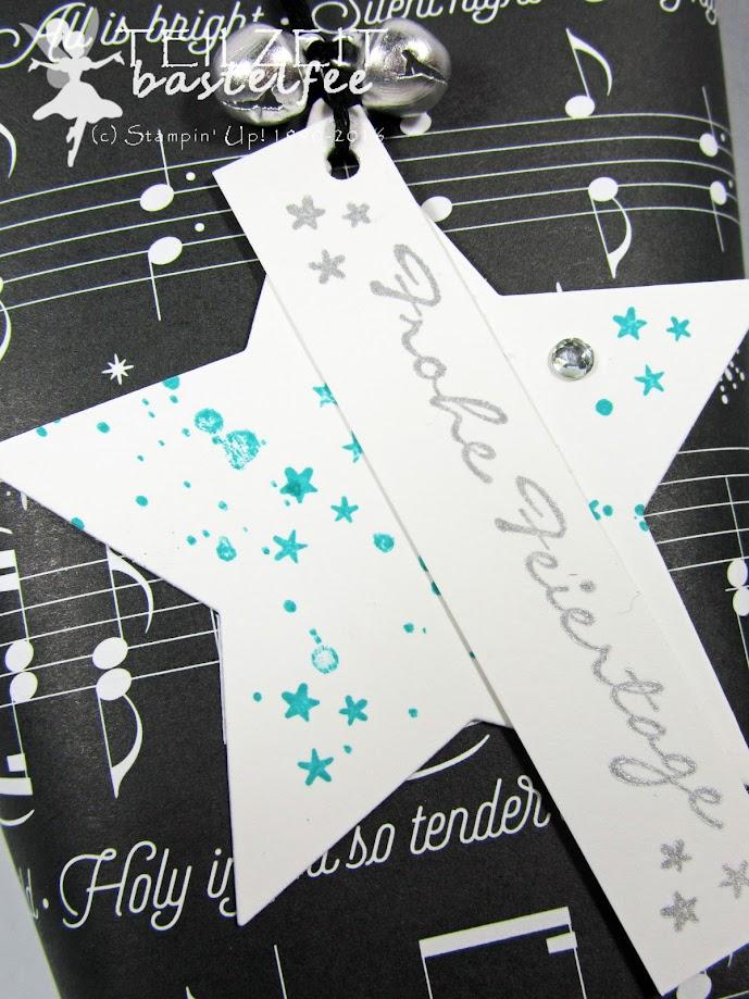 Stampin' Up! - gift tag, Christmas, Weihnachten, Geschenkanhänger, Kling Glöckchen, Gorgeous Grunge
