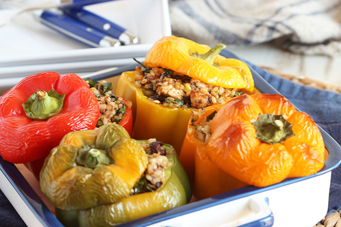 Greek-Style Shrimp With Feta-Stuffed Peppers Recipes — Dishmaps