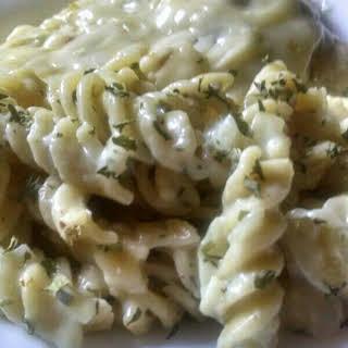 Creamy Garlic and Herb Pasta.