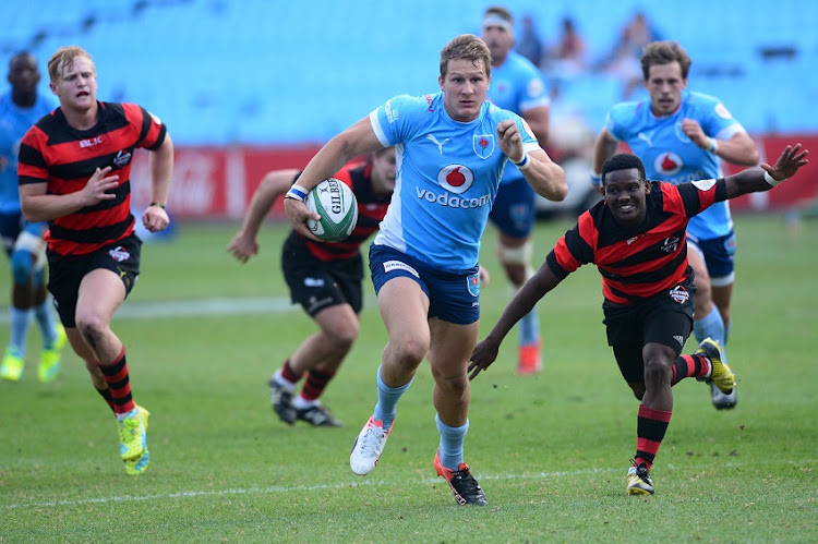 Franco Naude of the Blue Bulls during the Currie Cup U/21match between Blue Bulls and Eastern Province at Loftus Versfeld on September 02, 2016 in Pretoria, South Africa.