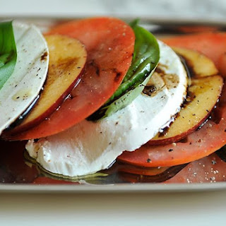 Tomato, Nectarine and Mozzarella Salad.