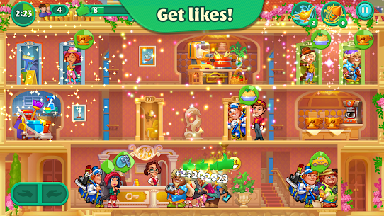 Grand Hotel Mania MOD APK 1.7.1.9 [Unlimited Coins, Gems] 6