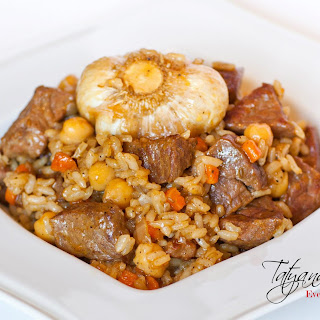 Cumin-Ginger Rice Pilaf with Braised Beef