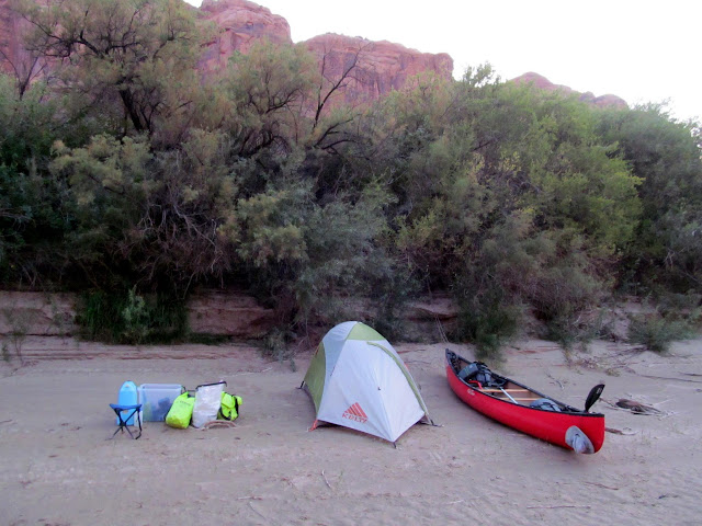 Camp across from Spring Canyon