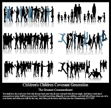 Photo: Children's Children Covenant Generation  The Greatest Commandment  You shall love the Lord your God with all your heart and with all your soul and with all your might. And these words that I command you today shall be on your heart. You shall teach them diligently to your children, and shall talk of them when you sit in your house, and when you walk by the way, and when you lie down, and when you rise.Deuteronomy 6:5-7 ESV  Deuteronomy 6 ESV; https://www.biblegateway.com/passage/?version=ESV&search=Deuteronomy%206  Covenant Reaches Children ''And I will establish My Covenant between Me and thee and thy seed after thee in their generations for an Everlasting Covenant, to be a God unto thee, and to thy seed after thee'' __ Genesis 17:7 KJV. Charles Haddon Spurgeon (1834-92)   Faith's Checkbook by Spurgeon  Covenant Reaches Children: Audio; http://www.sermonaudio.com/playpopup.asp?SID=fcb0801  Covenant Reaches Children: Website; http://www.sermonaudio.com/sermoninfo.asp?SID=fcb0801   BIBLE READING, BIBLE VERSIONS and DEVOTIONAL  Daily Devotional: Morning, Evening and Checkbook Series by Charles Haddon Spurgeon (1834-92) http://www.sermonaudio.com/daily.asp  The Inspirational https://www.youtube.com/user/ordl1940  Image: Children's Children Covenant Generation Silhouette