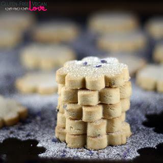 Gluten-Free Vegan Lemon Lavender Shortbread Cookies {Refined Sugar-Free}