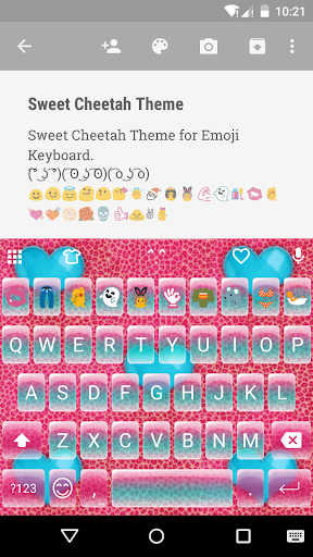 Sweet Cheetah Emoji Keyboard