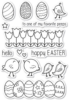 Poppystamps Clear Stamp - Easter Chicks