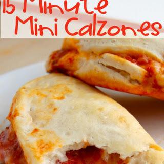 15 Minute Mini Calzones.