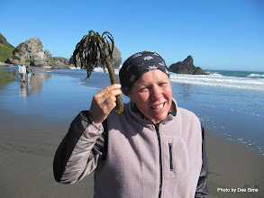 Photo: (Year 2) Day 357 - Me With a Silly Piece of Seaweed on Harris Beach