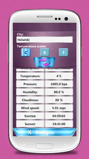 玩免費個人化APP|下載伞的天气时钟小工具 app不用錢|硬是要APP