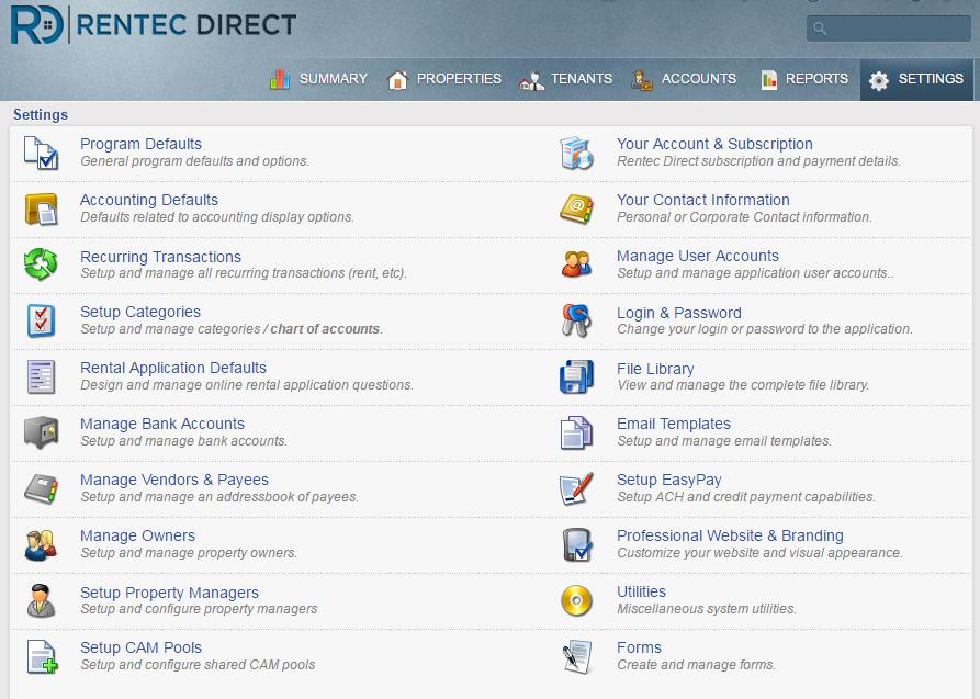 Website guide - settings tabPNG