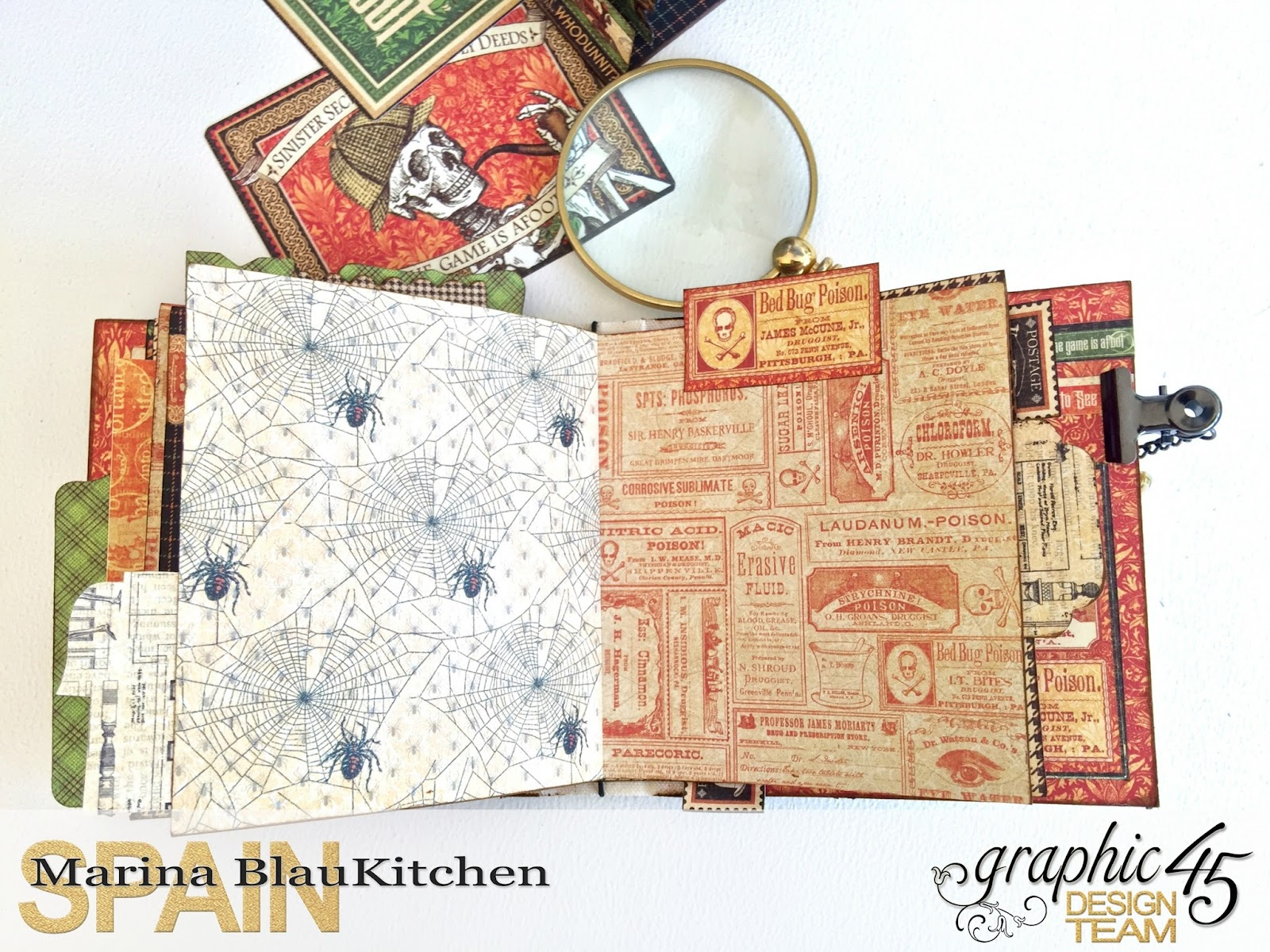 Stand and Mini Album Master Detective by Marina Blaukitchen Product by Graphic 45 photo 22.jpg