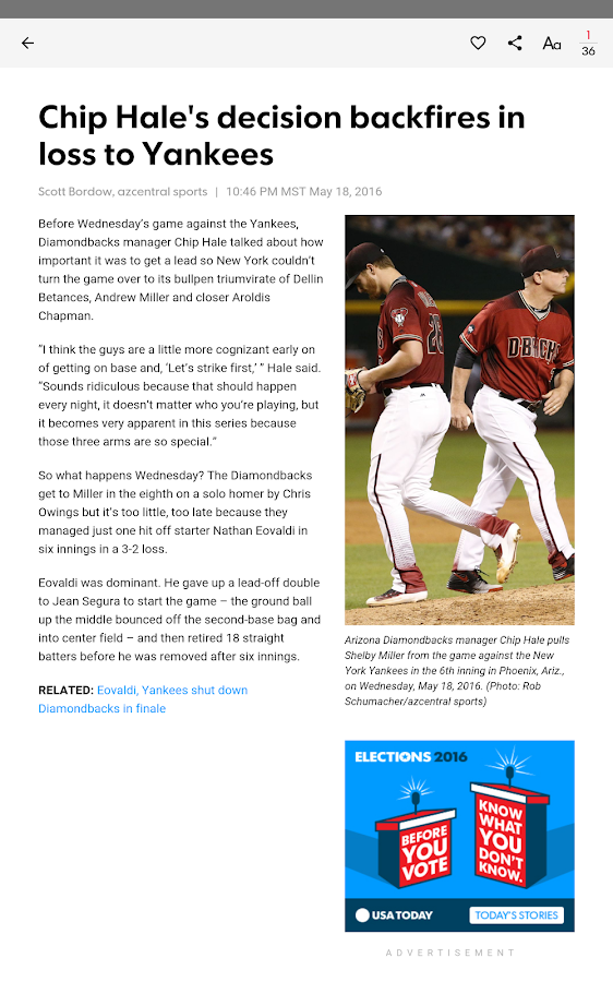 azcentral sports- screenshot