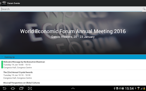 World Economic Forum Events- screenshot thumbnail
