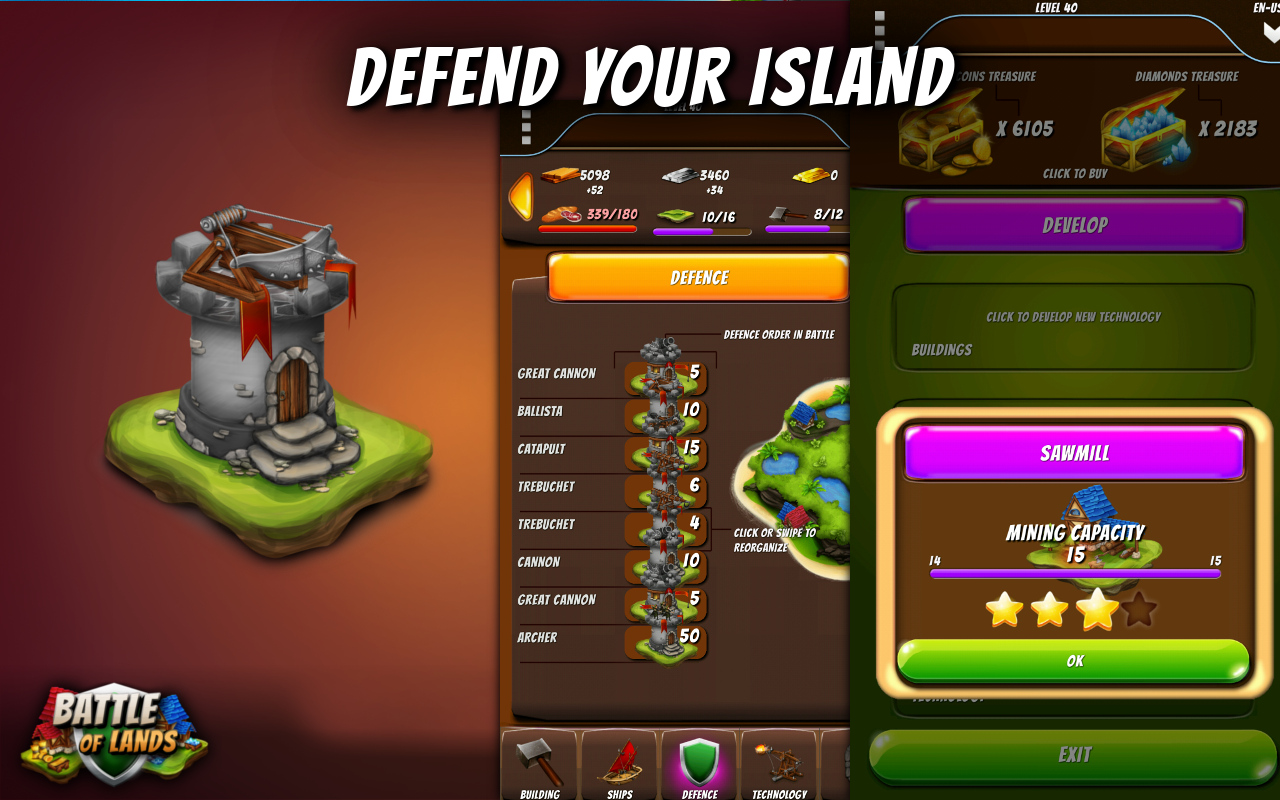 Battle of Lands -Pirate Empire- screenshot