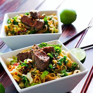Gluten Free Spicy Rice Noodle Salad.