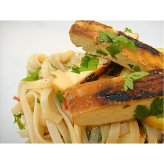 Caramelized Tofu With Rice Noodles