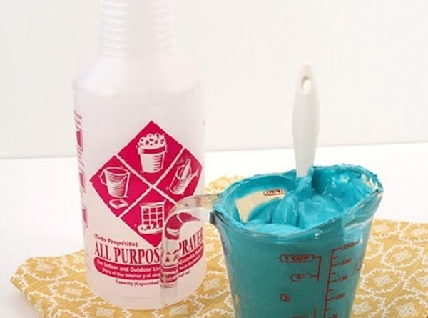 To thin the icing to piping consistency, use a spray bottle to mist water...