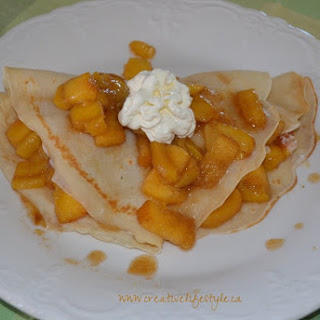 Peaches and Cream Crepes.