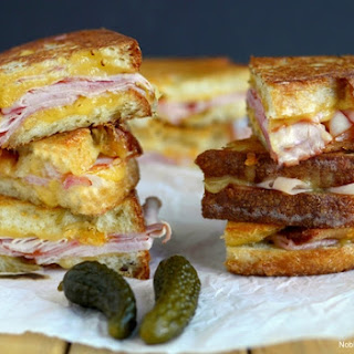 Epic Grilled Ham and Cheese Sandwich.