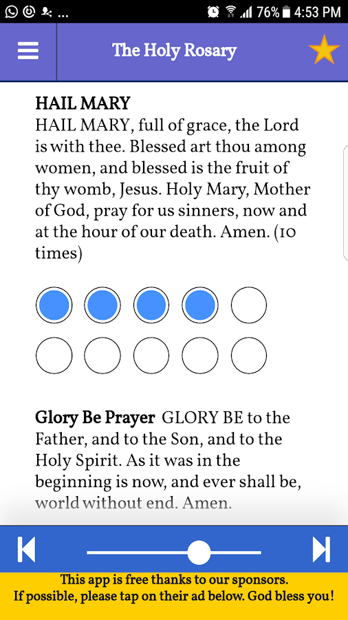 Pray The Holy Rosary  (With Audio)- screenshot