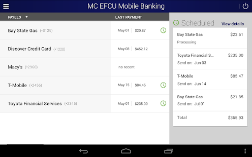 MC EFCU Mobile Banking- screenshot thumbnail