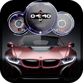 Sports Cars Clock Live Wallpaper