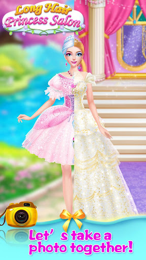 👸💇Long Hair Beauty Princess - Makeup Party Game screenshot 14