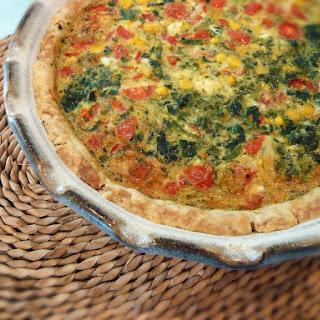 Pat-in-the-Pan-Crust Quiche.