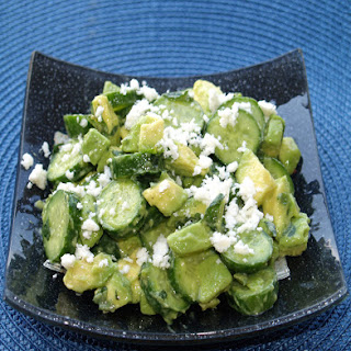 Cucumber Avocado Salad with Feta